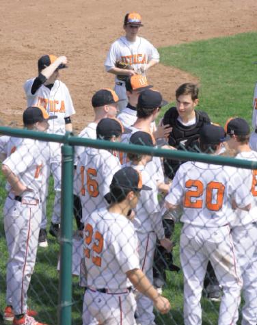 Students announce at Baseball games
