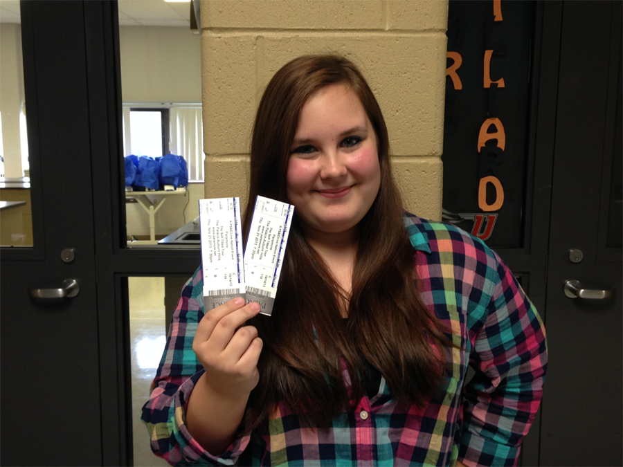 Junior Emily Cortes was notified via Twitter that she won two free Paramore concert tickets for following @UHSArrow.