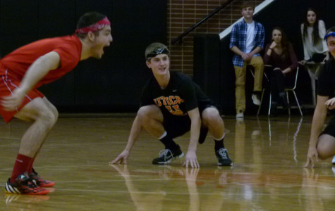 Students play in dodge ball tournament to raise money for charity