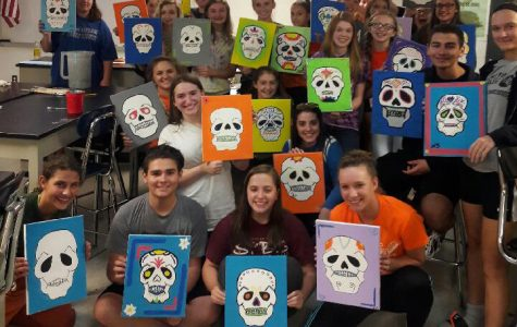 Hispanic Honor Society paints 'with a twist'