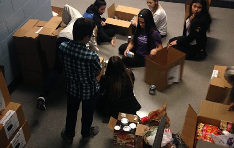 Students donate canned food to Key Club