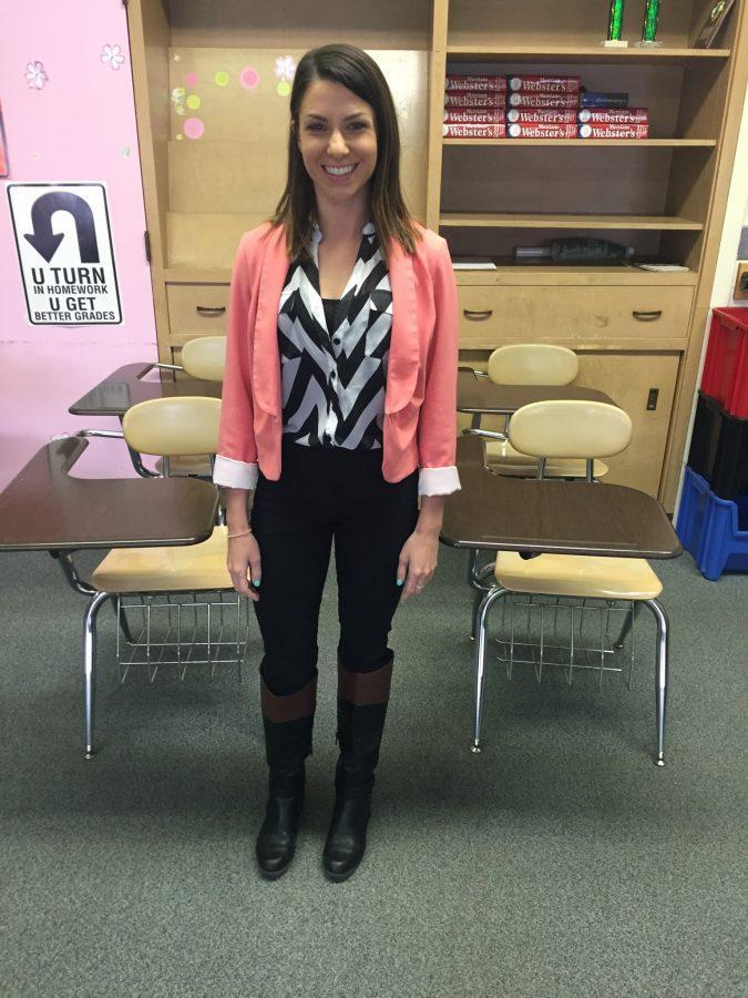 New+teacher+Amanda+Marino+welcomed+to+the+U