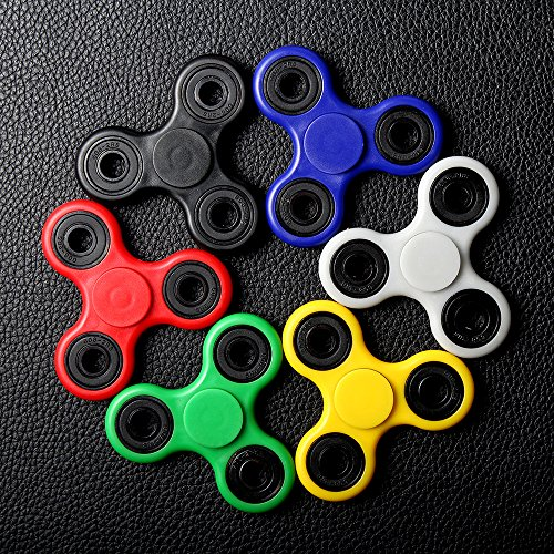 Pictured are fidget spinners, a recent trend amongst many students.