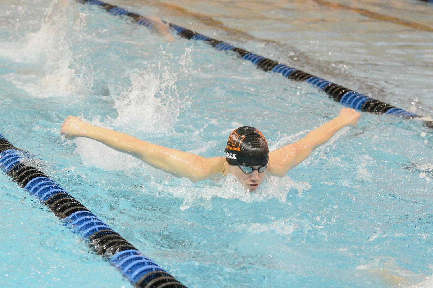 Senior Kyle Shock is a co-captain of this year's swim team.