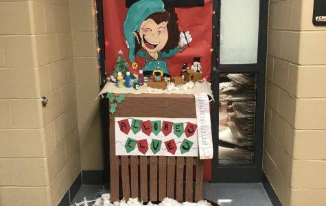 Teacher Jennifer's Allore winning classroom door during the 2017 door decorating contest.