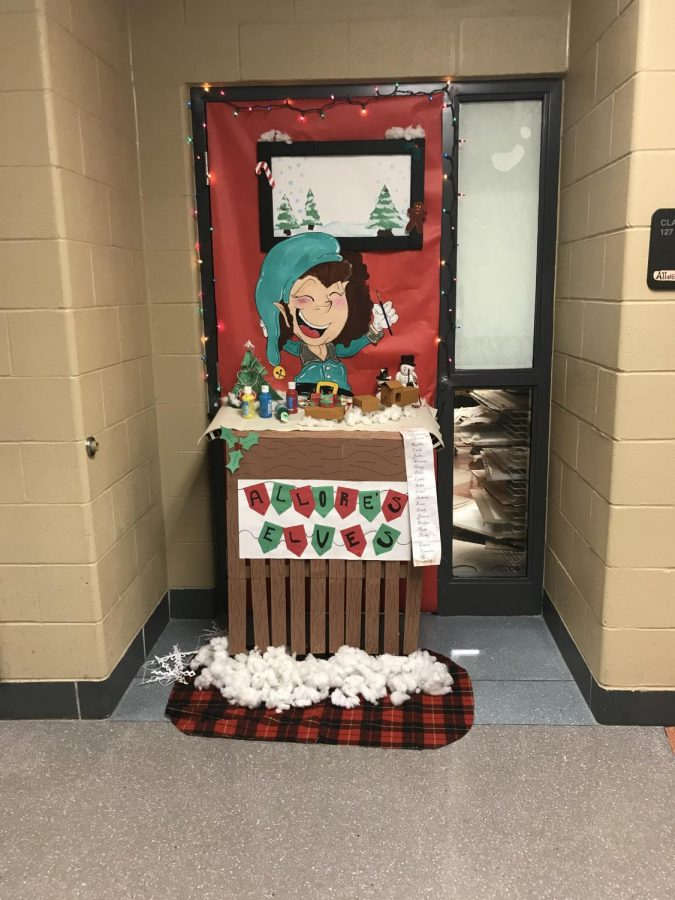 Teacher Jennifer's Allore winning classroom door during the 2017 door decorating contest.