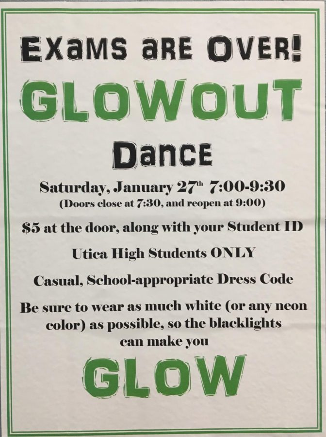 Glow Out dance to be held after exams