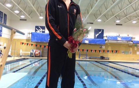 Senior Kyle Shock shatters records on Senior Night