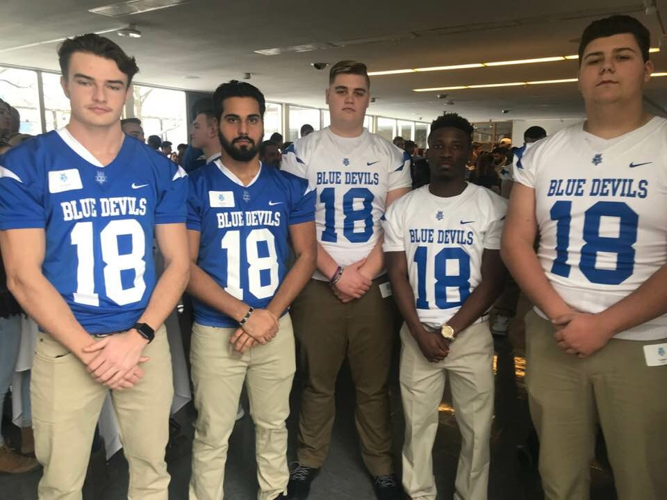 Next years freshmen class playing for Lawrence Tech from Utica High Brendan Dehondt, Hitesh Kumar, Cloin Motloch, Kavon Higdon, and Logan Wessel