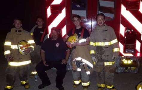 High school student by day, firefighter by night