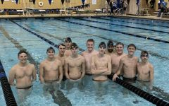 The boys swim team is ready to fight
