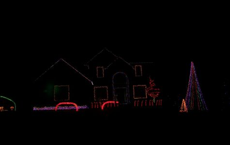 Displays in the area light it up in preparation for the holidays