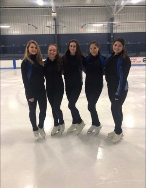 Junior Carly Hitchcock pictured with her figure skating club