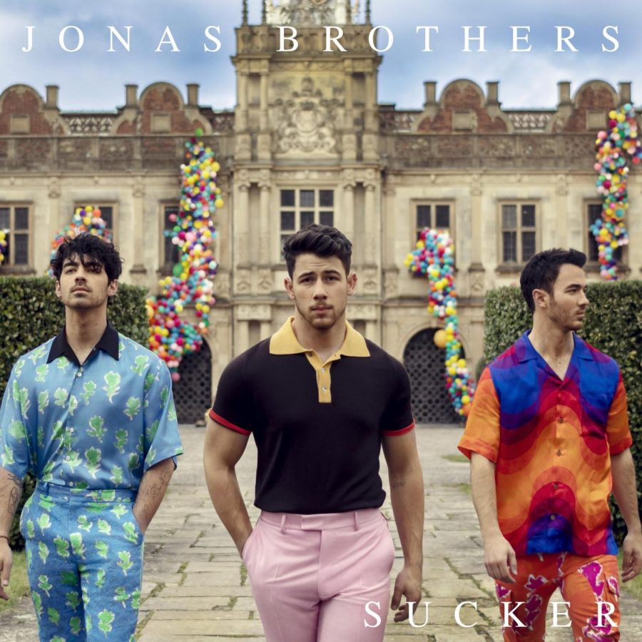 The cover for the Jonas Brothers' new song 'Sucker'