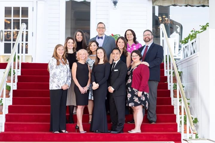 Principal Tom Lietz pictured with Michigan Speech Coaches, Inc. members at the Grand Hotel on Mackinac Island, MI.
