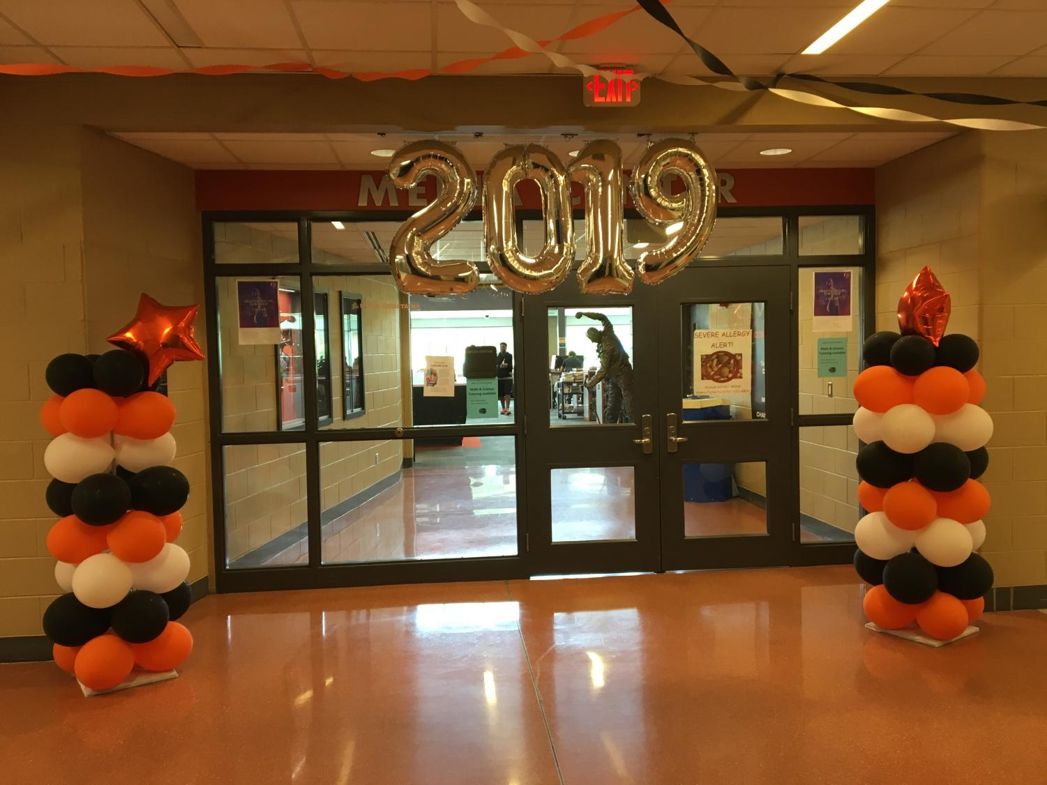 Student Council decorated the halls to help promote senior spirit week.