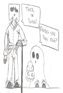 Trick Or Treating.