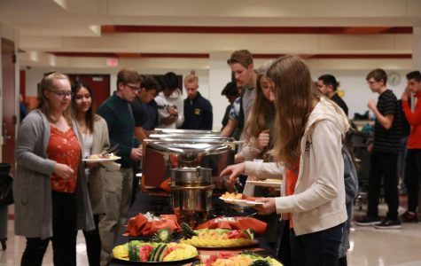 NHS members were treated to a catered breakfast following the tapping ceremony.
