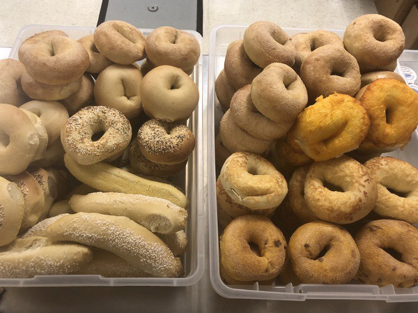 Bagels, along with other breads, can be a great source of carbohydrates for athletes, especially whole grain.