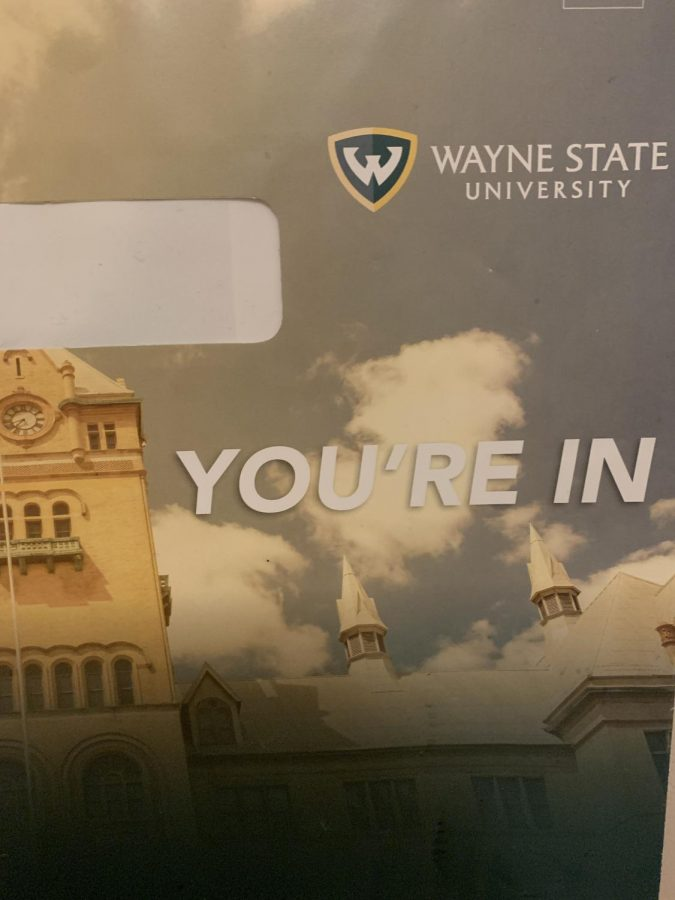After receiving a congratulatory email that sprouted graphic confetti upon opening it, accepted seniors from Wayne State University received a letter in the mail.