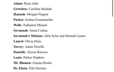 Spring  musical cast  announced