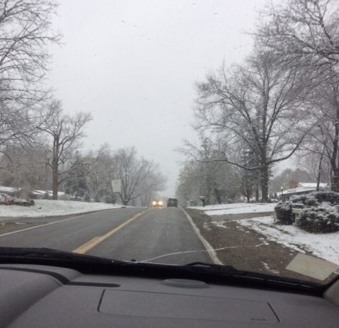 Slow down, pay attention on wintery roads