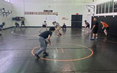 Athletes go to practice after school for wrestling.